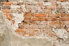 Feche acima da parede de tijolo velha Foto de Stock Royalty Free