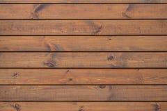 Feche acima da parede feita de pranchas de madeira Imagem de Stock Royalty Free