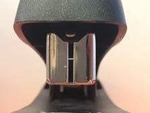 Feche acima da parte frontal de um grampeador fotografia de stock