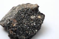 Feche acima da pedra mineral preta Foto de Stock