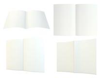 Feche acima da pilha de papéis no fundo branco Imagens de Stock Royalty Free