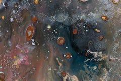 Feche acima da pintura a óleo abstrata Fundo bege galáxia fotos de stock royalty free