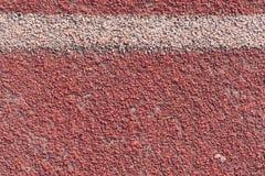 Feche acima da pista de atletismo nos estádios para o esporte fotografia de stock
