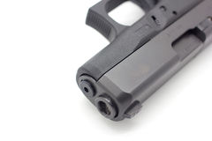 Feche acima da pistola de 9mm Imagem de Stock