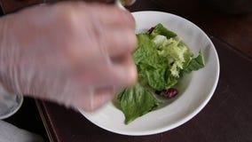 Feche acima da placa final do alimento vídeos de arquivo