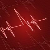 Feche acima da pulsação do coração na tela Fotografia de Stock Royalty Free