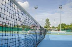 Feche acima da rede do tênis Fotografia de Stock Royalty Free