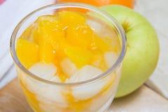 Feche acima da salada de fruta Fotos de Stock