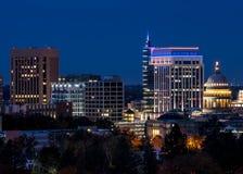 Feche acima da skyline de Boise Idaho Foto de Stock Royalty Free