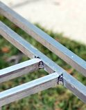 Feche acima da soldadura de alumínio Fotos de Stock Royalty Free