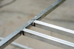 Feche acima da soldadura de alumínio Imagens de Stock