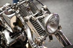 Feche acima da suspensão dianteira da mola Fotografia de Stock Royalty Free