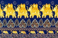 Feche acima do teste padrão decorativo do elefante Foto de Stock Royalty Free