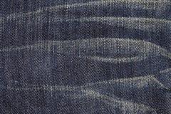 Feche acima da textura azul de brim Imagens de Stock