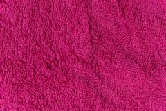 Feche acima da textura cor-de-rosa do velo Fundo Foto de Stock