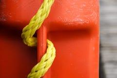 Feche acima da textura da corda da corda do agregado familiar Imagem de Stock