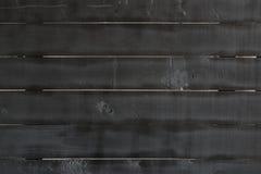 Feche acima da textura de madeira velha preta da parede Fotografia de Stock