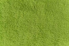 Feche acima da textura verde do velo Fundo Fotografia de Stock
