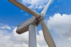 Feche acima da turbina de vento Imagem de Stock Royalty Free