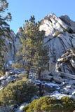 Feche acima da vista da montanha coberto de neve Foto de Stock