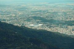 Feche acima da vista da parte superior de Rio de janeiro Foto de Stock Royalty Free