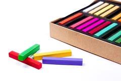 Feche acima da vista das cores pastel do giz Foto de Stock Royalty Free