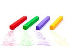 Feche acima da vista das cores pastel do giz Fotografia de Stock Royalty Free