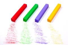 Feche acima da vista das cores pastel do giz Fotos de Stock Royalty Free
