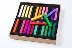 Feche acima da vista das cores pastel do giz Imagem de Stock Royalty Free