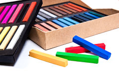 Feche acima da vista das cores pastel do giz Fotos de Stock
