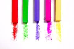 Feche acima da vista das cores pastel do giz Imagem de Stock