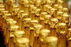 Feche acima da vista do frasco de Champagne Fotos de Stock