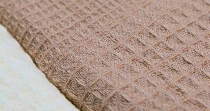 Feche acima das amostras de matéria têxtil filme
