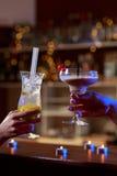 Feche acima das bebidas coloridas Imagens de Stock Royalty Free