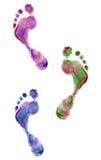 Feche acima das cópias coloridas do pé Imagem de Stock Royalty Free