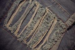 Feche acima das calças de brim da forma, foco selecionado Imagens de Stock Royalty Free