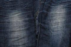 Feche acima das calças de brim da forma, foco selecionado Foto de Stock Royalty Free
