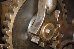 Feche acima das engrenagens velhas do metal Fotos de Stock Royalty Free