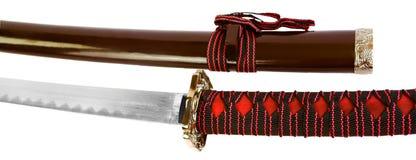 Feche acima das espadas isoladas Fotografia de Stock Royalty Free