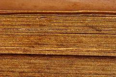 feche acima das espinhas do livro do vintage Foto de Stock Royalty Free