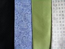 Feche acima das gravatas Imagem de Stock