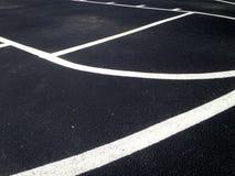 Feche acima das linhas sobre campo de básquete exterior do am fotografia de stock royalty free