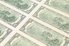 Feche acima das notas de dólar. Fotos de Stock