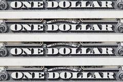 Feche acima das notas de dólar dos E.U. um Imagens de Stock