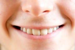 Feche acima das partes de um rosto humano fotos de stock