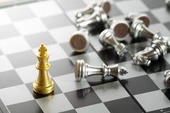 Feche acima das partes de xadrez Fotos de Stock Royalty Free