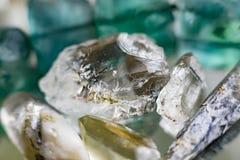 Feche acima das pedras de gema de cristal Fotos de Stock