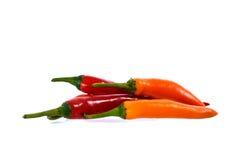 Feche acima das pimentas da malagueta picante Foto de Stock