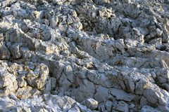 Feche acima das rochas selvagens fotografia de stock