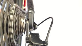 Feche acima das rodas de engrenagem video estoque